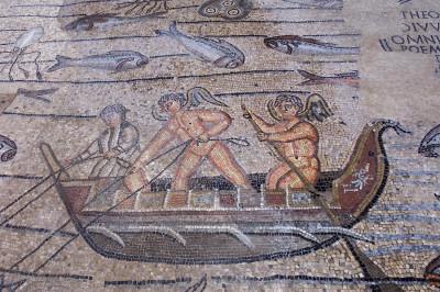 Dettaglio del mosaico di Giona