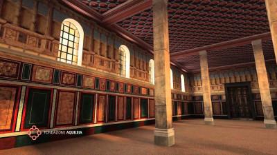 Ricostruzione virtuale della Basilica Costantiniana di Aquileia